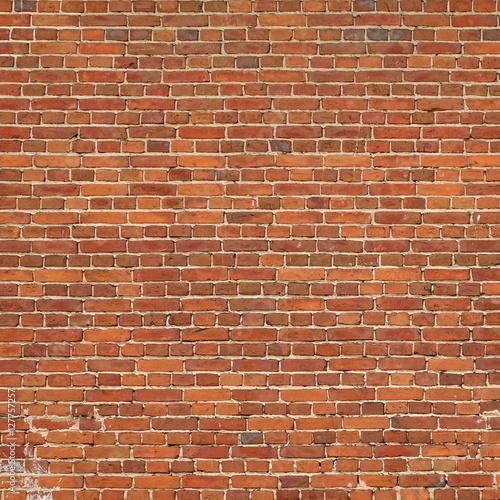 Papiers peints Large Red Brown Old Vintage Brickwall Frame Square Background Te