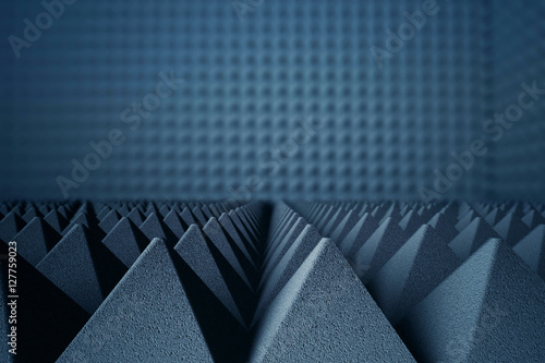 Photo  Acoustic foam pyramids