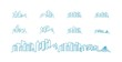 City Skyline lineart logo set