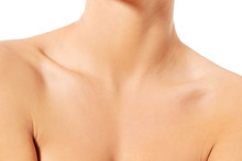 Close Up Of Female Neck And Sh...