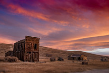 Ghost Town Of Bodie At Sunset