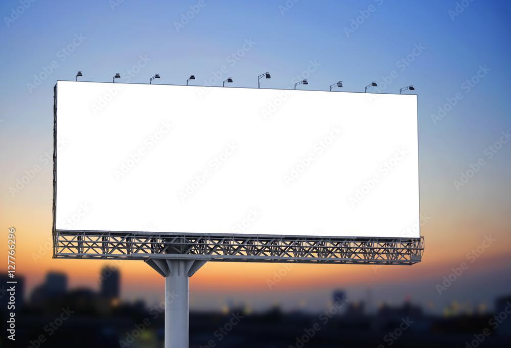 Fototapety, obrazy: Blank billboard at twilight