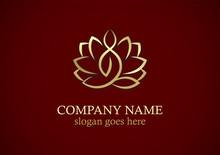 Lotus Flower Yoga Gold Logo