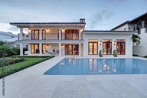 Vászonkép Spectacular Backyard Swimming Pool Designer home