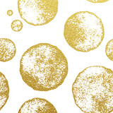 Abstrakt okrąża bezszwowego wzór złocista folia - 127777696