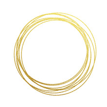 Golden Circles And Rings Decor...