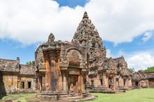 Prasat Hin Phanom Rung, A Khmer Temple Complex Set In Phanom Rung Historical Park, Buriram Province, Thailand.
