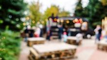 Blur People Picnic In A Public Park