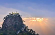 Mount Popa At Dawn, Mt. Popa N...