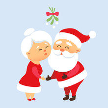 Santa Kiss His Wife