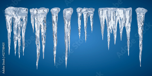 Cuadros en Lienzo Icicles, set vector