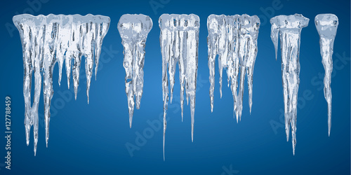 Fotomural Icicles, set vector