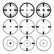 Set of different sights on a white background