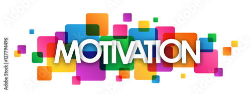 "Fotografie, Obraz  ""MOTIVATION"" multicoloured vector letters icon"
