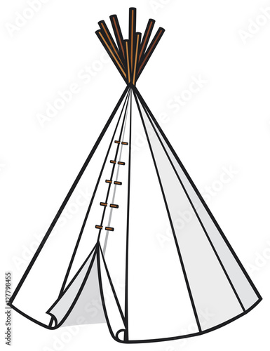 illustration of american indian wigwam (tepee) Fotobehang