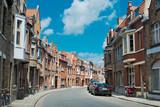 Fototapeta Uliczki - A typical narrow street of Brugge, Belgium