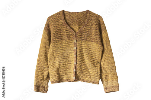 Pinturas sobre lienzo  Knitted cardigan isolated
