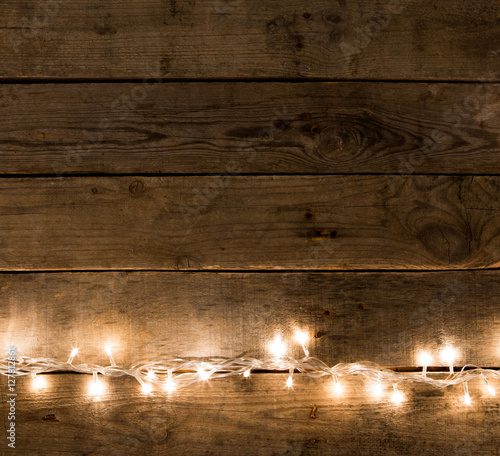 Christmas Rustic Background Vintage Planked Wood With