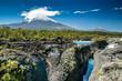 Saltos del Petrohué und der Vulkan Osorno