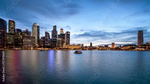 Keuken foto achterwand Verenigde Staten panorama of Singapore city skyline