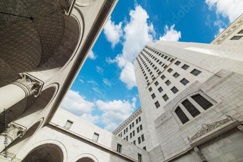Staande foto Los Angeles blue sky over Los Angeles city hall