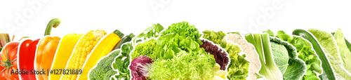 Foto op Plexiglas Verse groenten Gemüse und Salat - Panorama