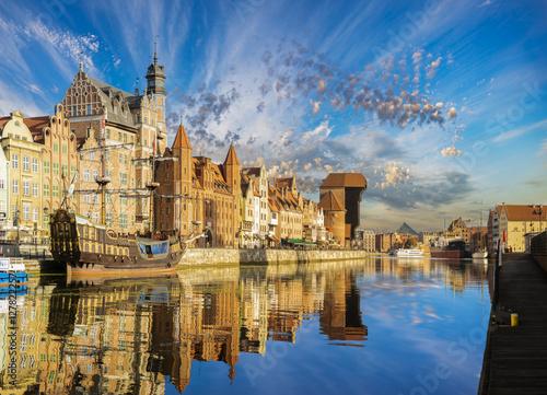 Gdansk,Poland-September 2015:Cityscape of Gdansk in Poland