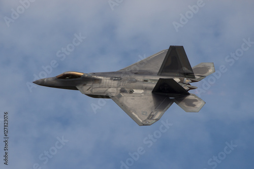 Photo  Fighter Jet flying away from camera
