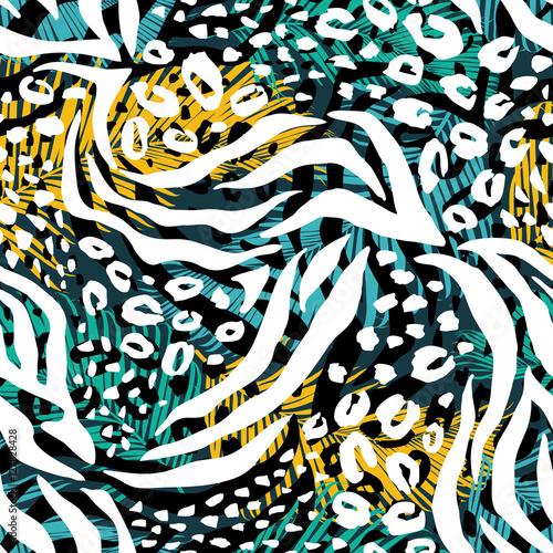 abstrakcjonistyczny-geometryczny-bezszwowy-wzor-z-zwierzecym-drukiem-modne-recznie