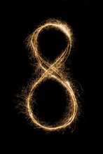 New Year Font Sparkler Number ...