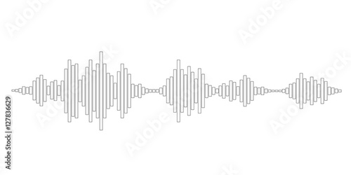 Photo  black and white sound waves