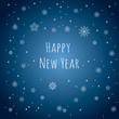 Happy New Year. Snowflakes background. Greeting card.