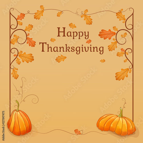 happy thanksgiving template for your design frame with colorful