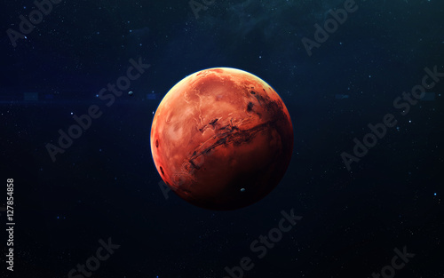 Mars - High resolution beautiful art presents planet of the solar system Tablou Canvas