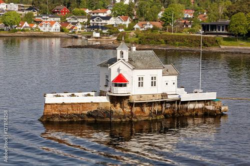 Photo  Lighthouse Dyna Fyr near Oslo from 1874
