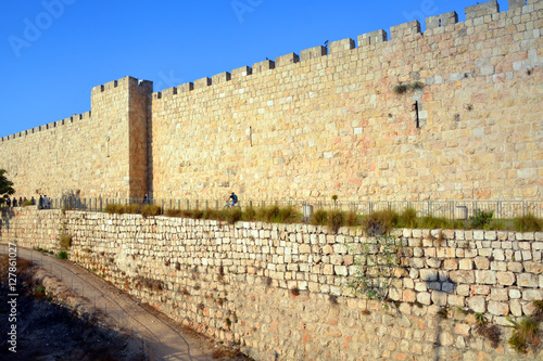Walls of Jerusalem surround the Old City of Jerusalem. In 1535 when  Jerusalem was part of the Ottoman Empire, Sultan Suleiman I ordered the  ruined city walls to be rebuilt in 4