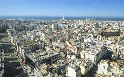 Photo  City panorama. Casablanca, Morocco. Africa
