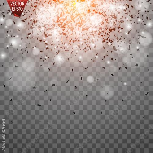 Fotografie, Obraz  Light effect, sun rays, beams on transparent background