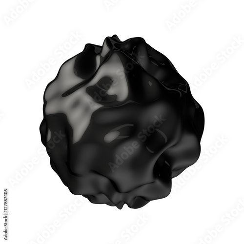 Abstract 3D rendering - deformed dark figure isolated Canvas-taulu