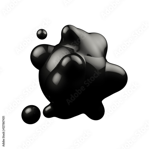 Valokuva 229131 Abstract 3D rendering - deformed dark figure isolated on