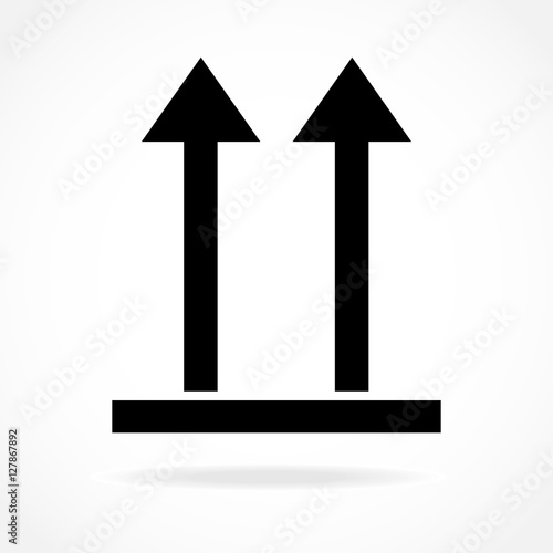 Vector Icon This Side Up Packaging Symbol With Two Arrows Buy This