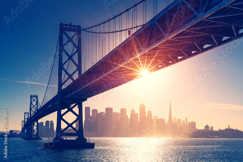 San Francisco skyline retro view Canvas Print