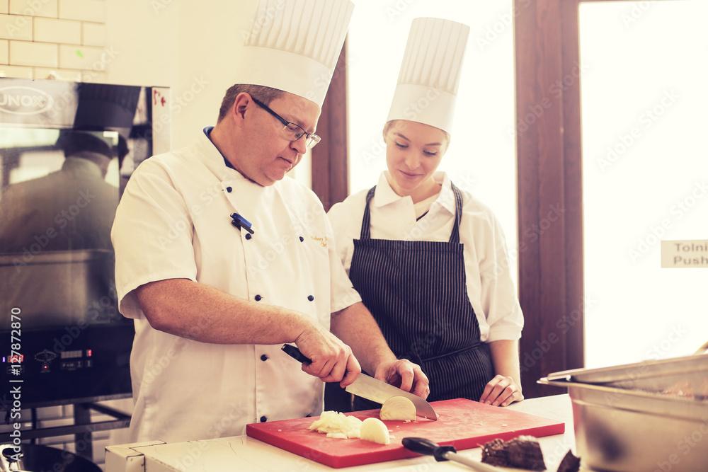 Fototapety, obrazy: Cooking demonstration