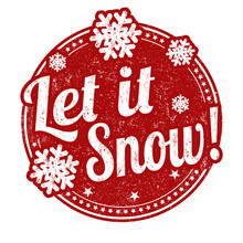 Let It Snow Sign Or Stamp