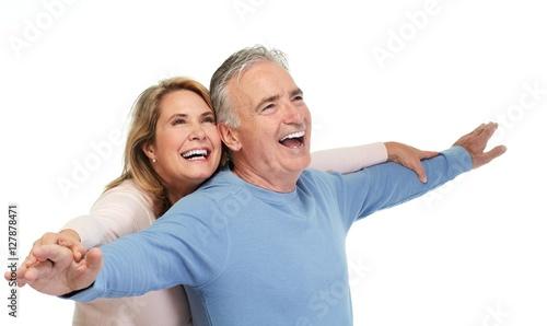 Happy senior couple #127878471