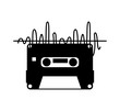 cassette old record icon vector illustration design