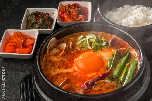 Photo Stands Ready meals スンドゥブチゲ 韓国の豆腐料理 Gourmet of Sundubu Korea