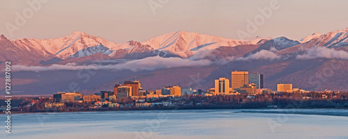 Photo Anchorage Alaska Skyline
