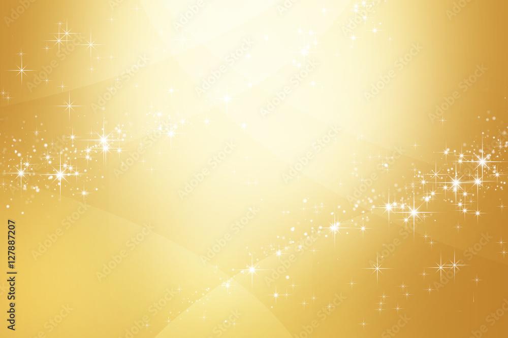 Fototapety, obrazy: 金色のきらめく抽象的背景