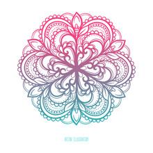 Circle Blue And Pink Pattern